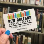 Offering temporary library cards to residents who are staying in the New Orleans area due to the recent flooding. https://t.co/pJ20xV20cT