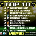 Our RGV TOP 10 Football Teams List (After Week 1) https://t.co/ymqF8s0C04