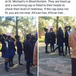 How African Hair is treated at St Michaels in Bloem. https://t.co/HaR1SJHvvA