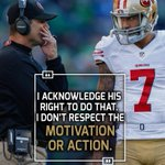 Jim Harbaugh didnt hold back when asked about his former QB Colin Kaepernicks protest. https://t.co/qI6S6X51Pn
