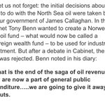 Tony Benn tried to put some of Scotlands £ in the bank: an Oil Fund Labour refused Labour are no friend to Scotland https://t.co/yeMH02hXsa