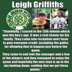 Absolute brilliant @Leighgriff09 rest in peace wee man hail hail https://t.co/afksDaZkWm