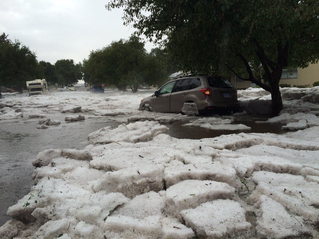 Heavy rains bring flooding | Don't drive thru running water | car can stall   or be washed away -Logan & Bijou area https://t.co/x1KyD5Jcft