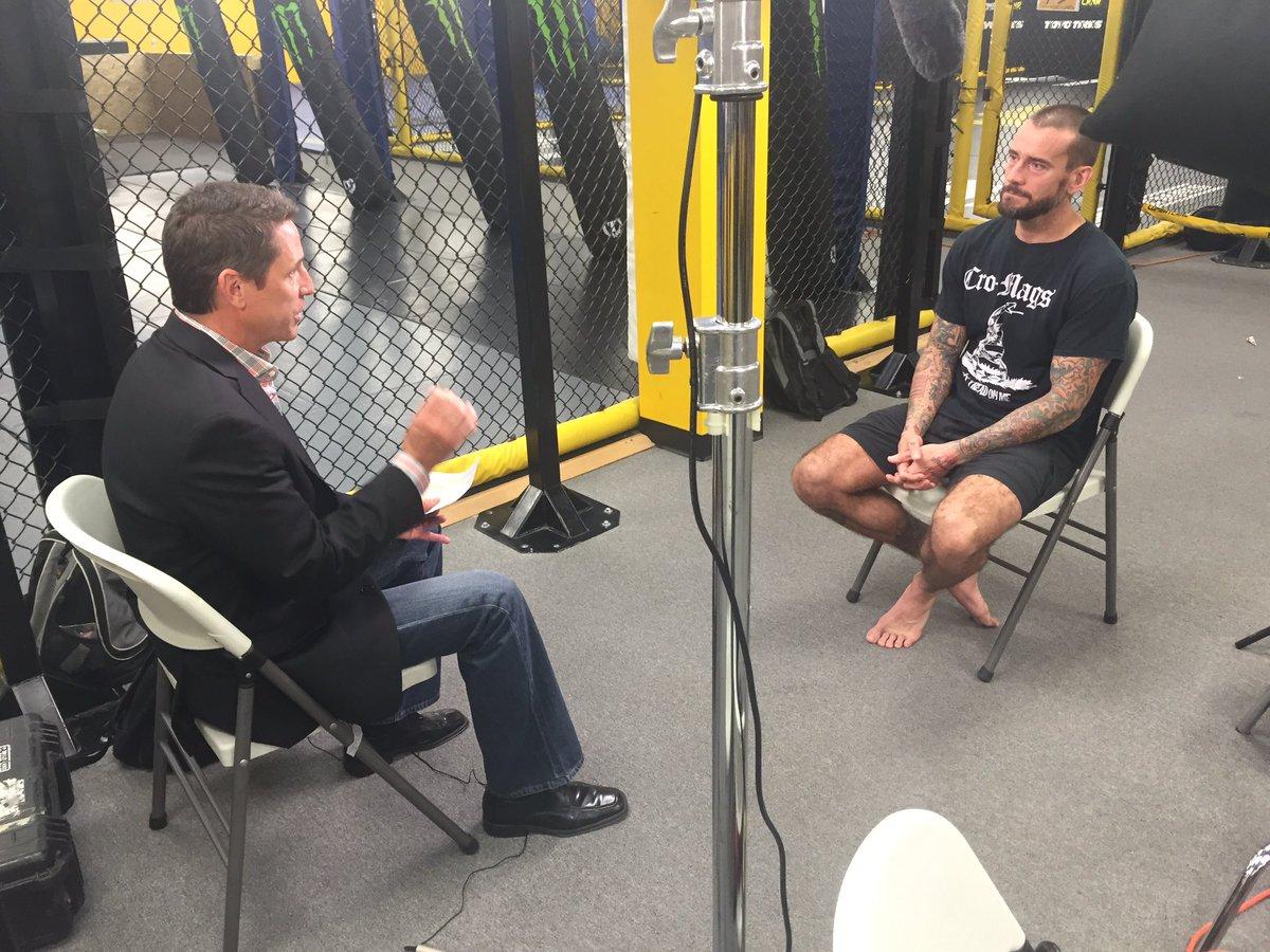 Always a pleasure to int a true pro @CMPunk He talks about his UFC debut & much more Fri @InsideMMAaxstv https://t.co/OjGULuREuX