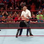 What did @TripleH just do?! @WWERollins gets hit with a #Pedigree leading to a NEW #UniversalChampion! #RAW https://t.co/0v0TtBXA2q