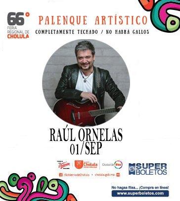 Les recordamos que @raulornelasmx estará el jueves 1 de sept en la feria de @GobiernoCholula ¡no se lo pierdan! https://t.co/UlFGwZSukk
