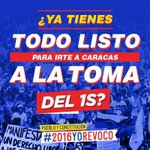 Pacíficamente, pero con contundencia, alzaremos nuestras voces para exigir revocatorio #1SPorElRevocatorio https://t.co/L7xi0ILXhX