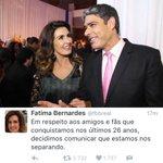 MEU MUNDO CAIUUUUU!!!! 😱😱😱😱 Fátima Bernardes e Willian Bonner estão se separando após 26 anos juntos! https://t.co/bRzW0NpnkU