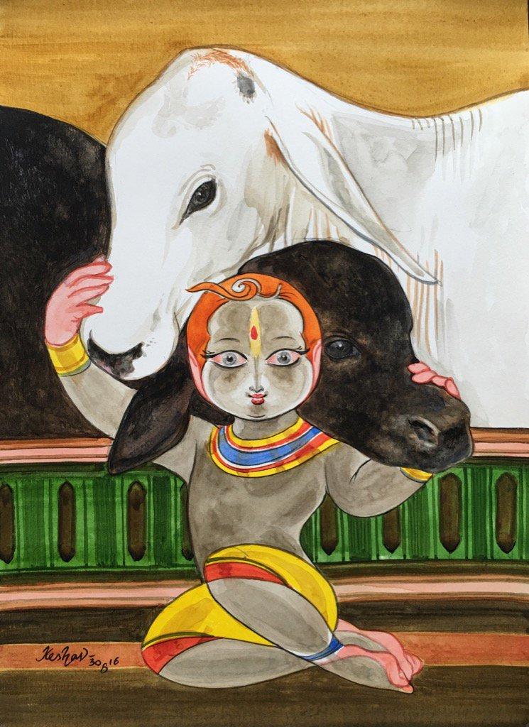 Govinda #watercolour #krishnafortoday https://t.co/WgNdJCppYO