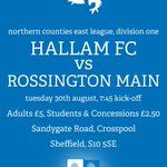 ITS GAME DAY!   RT and follow for your chance to win 2 tickets to tonights game.   #hallamFC #Sheffield https://t.co/w1R54snifm