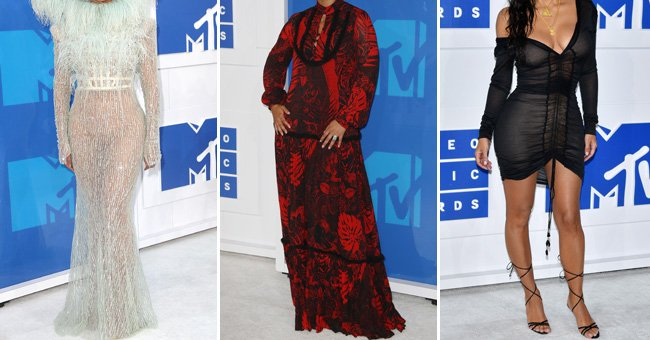 Which celebrity lady turned up to the MTV VMAs with absolutey *zero* make-up on?