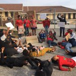 EFF & Students now lay down in the streets infront of #LawsonBrownHighSchool @AfriNewsAgency https://t.co/8EdhtuHmVq
