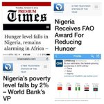 The first headline is from the @MBuhari era. The second is from the @GEJonathan era. You cant argue with facts! https://t.co/NBtENY1uhT