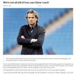 غلاف صحيفة طهران تايمز الإيرانية : كارينيو : لانخاف من إيران #قطر_ايران https://t.co/MtOzitXheR