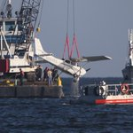 Photo from scene: Crashed plane raised from Lake Pontchartrain https://t.co/CRFCbNNpoA