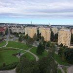 Näkymä yli #tampereen Kalevan kirkon kellotornista. #yletrepäivä vierailulla 50- vuotta täyttävässä pyhäkössä. https://t.co/Sn4A2tyRB7