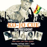 Be there or be no where Oseikrom presidoo  #CueForPresident https://t.co/bZQleLUN6F
