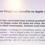 Apple paid little as 0.005pct tax on yearly European profits says @Vestager finding illegal aid up to €13 billion. https://t.co/iKfy8GLc0K