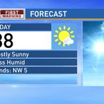 Lots of sunshine today, a little cooler and a bit less humid too - High 88° https://t.co/iqE8lmdrSD