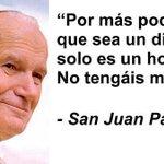 """""""Por más poderoso que sea un dictador, solo es un nombre. No tengas miedo"""" Juan Pablo II ¡Vzla será libre! #30Ago https://t.co/V8YIayubeO"""