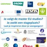 Binnenkort Master student EU studies @CEUSGhent @ugent en op zoek naar een stageplek? https://t.co/a2xMp6X2Uj https://t.co/ekxgH5EFO1