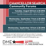 ICYMI: Tonight is the first Chancellor Search Community Forum // More details: https://t.co/RAeqL49PxS #DCPSRising https://t.co/eLsOL0LWEv