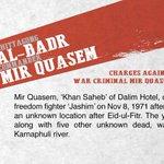 The charge that got #MirQuasem the death penalty: Killing freedom fighter Jashim Uddin #Bangladesh #WarCriminals https://t.co/hLJy0v0Ki0