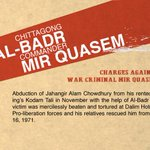 Charges in which #MirQuasem has been conclusively convicted: Abduction and torture of Jahangir Alam Chowdhury https://t.co/umLMsWRlcp