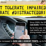 Over the Labour Day weekend, help keep our roads safe and support our #OPP #DistractedDriving Campaign. #DriveSafe https://t.co/URxKxMnDYn