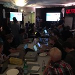 . @tuukkah presenting @digitransit and Citybike personal data API linked to YLE-ID to hackers at #mydata #ultrahack https://t.co/DS0GMja741