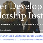 Are you ready for a leadership role? Register by Sept 15 for the Career Development Leadership Institute, Nov 7-10. https://t.co/OvWdcih0iG