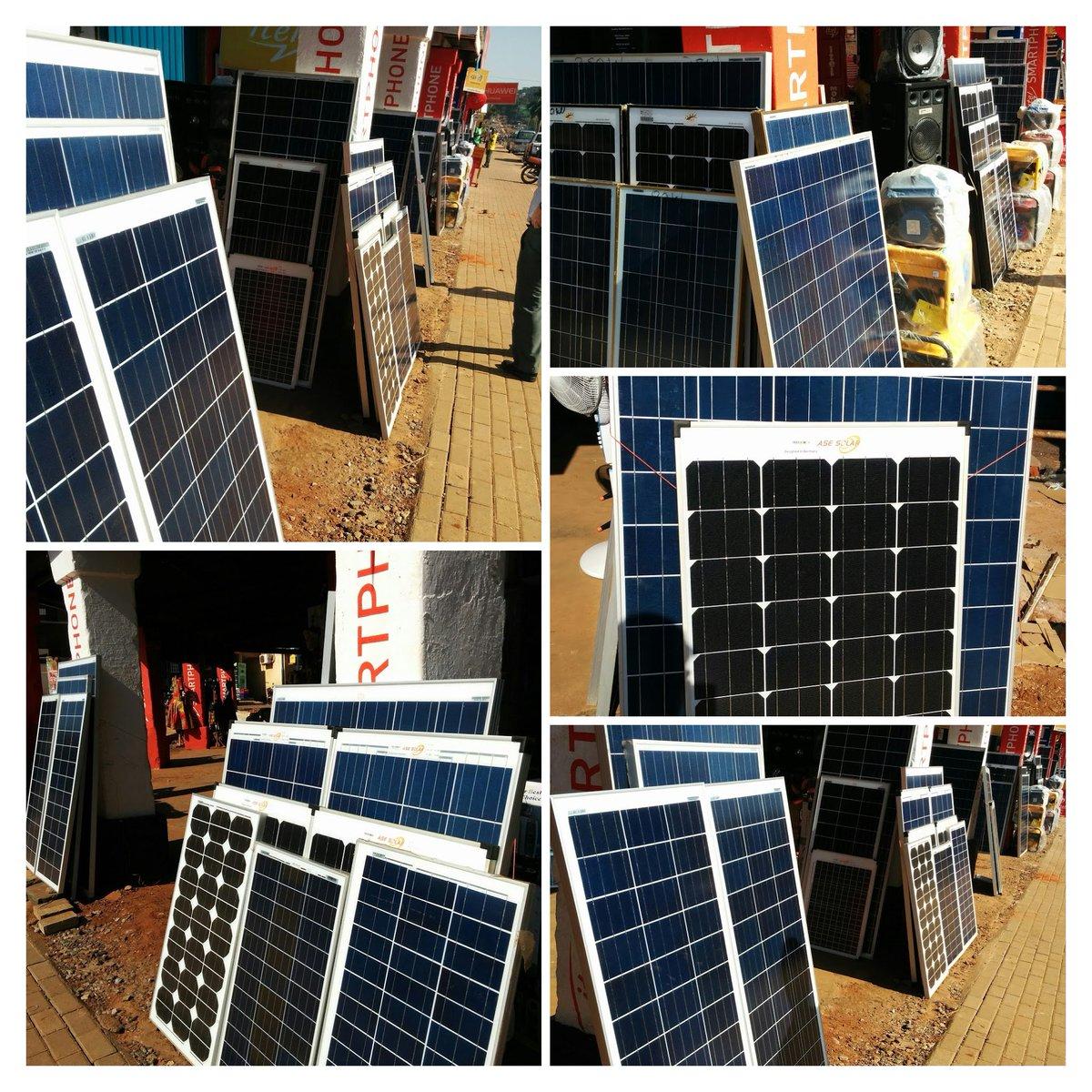 Gulu is awash in solar panels.  Yours for $1 - $1.5 per Watt depending on quality. Pretty cool.  #Uganda https://t.co/0dGXJaNvXw