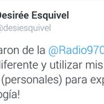Periodista @desiesquivel, denuncia que la despidieron de la @Radio970AM (Grupo Cartes) por su ideología https://t.co/MUwE3oytn9