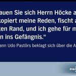 Zitat des Tages: Udo #Pastörs (NPD) ist ein bissl neidisch auf Björn #Höcke (AfD) via @Hoeckewatch https://t.co/aQOsFPZyB7