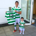 New @celticfc fullback Cristian Gamboa - and son Felipe - after signing for the Scottish champions from @WBA #Celtic https://t.co/rPkoSrAmoB