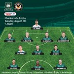 How the lads line up this evening #pafc #ARGNEW @CheckatradeTrpy https://t.co/LURGB2vGe2
