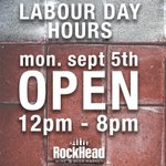 GOOD NEWS! Were open on Labour Day ( Mon. Sept. 5th) from 12pm-8pm! https://t.co/NeOpj2ttq6