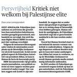 Kritiek niet welkom bij Palestijnse elite. @nrc over rapport @hrw @saribashi https://t.co/lapkasKNVr @pmollema https://t.co/pbqeqcPpAa