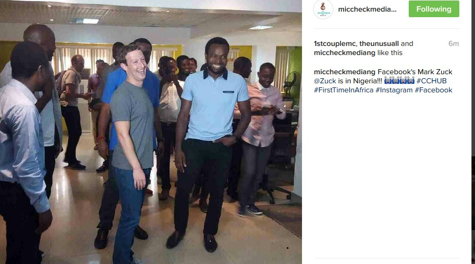 Welcome Mark Zuckerberg to Nigeria! Looking forward to the event tomorrow! https://t.co/cUzUKNG3BU