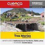 80 % de avance en construcción del puente Tres Marías. @CholaCabrera #ObrasCuenca @tomebamba @mercurioec @UNSIONTV https://t.co/doz8I7NXdi