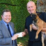 Proud to make a donation on behalf of @Hantspolfed of £550 to the brilliant @pensions4paws today. A great cause 👍 https://t.co/K7YgvxoEdt