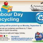 Recycling will be collected this coming Labour Day Monday. For changes to garbage, check with your local township. https://t.co/0OEvAFGvPm