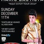 "NEW: Mario Bautista ""Aqui Estoy Tour 2016"" @mariobautista_ at Scout Bar Houston   Sun, Dec 11, all ages, $41 https://t.co/x3iIiZbbw7"
