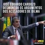 Cardozo conclamou os acusadores a não enxovalhar a Presidenta Dilma que é uma pessoa digna. https://t.co/aHT4VNsFpj