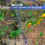 A line of storms is moving NE through NE El Paso County right now. Heavy rain & gusty winds possible #cowx https://t.co/bQRGqWFEAn