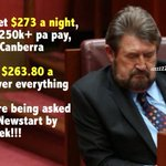 MPs get $273 A NIGHT to sleep in Canberra Jobless get $263.80 A WEEK for everything! #auspol What are they reducing? https://t.co/6M7Pz3GkJ9