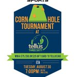 Sign your team up by 6:45pm at @Tellus360! Cash prizes are on the line for the top 3 teams! #Cornhole #Lancaster https://t.co/15XhIFocpy