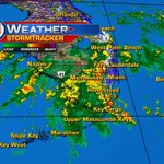 If youve missed the rain so far #SoFla Radar shows a big batch coming. Moving northward @wsvn https://t.co/g5MVXnMDmE