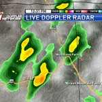 A couple downpours have popped up in Teller County along Hwy 24 and are slowly drifting NNW #cowx https://t.co/IwAgoQ0IOp