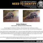 Violent robbery - Seeking public assistance to identify vehicle: https://t.co/UTTgBF5xK7 #yyc #Calgary https://t.co/mQlQCzZXtx